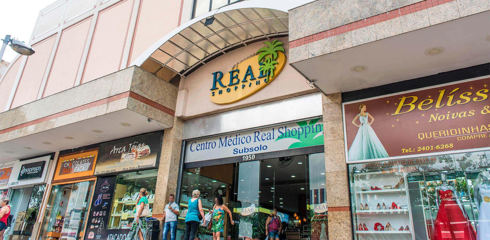 Fachada do Real Shopping Bangu.